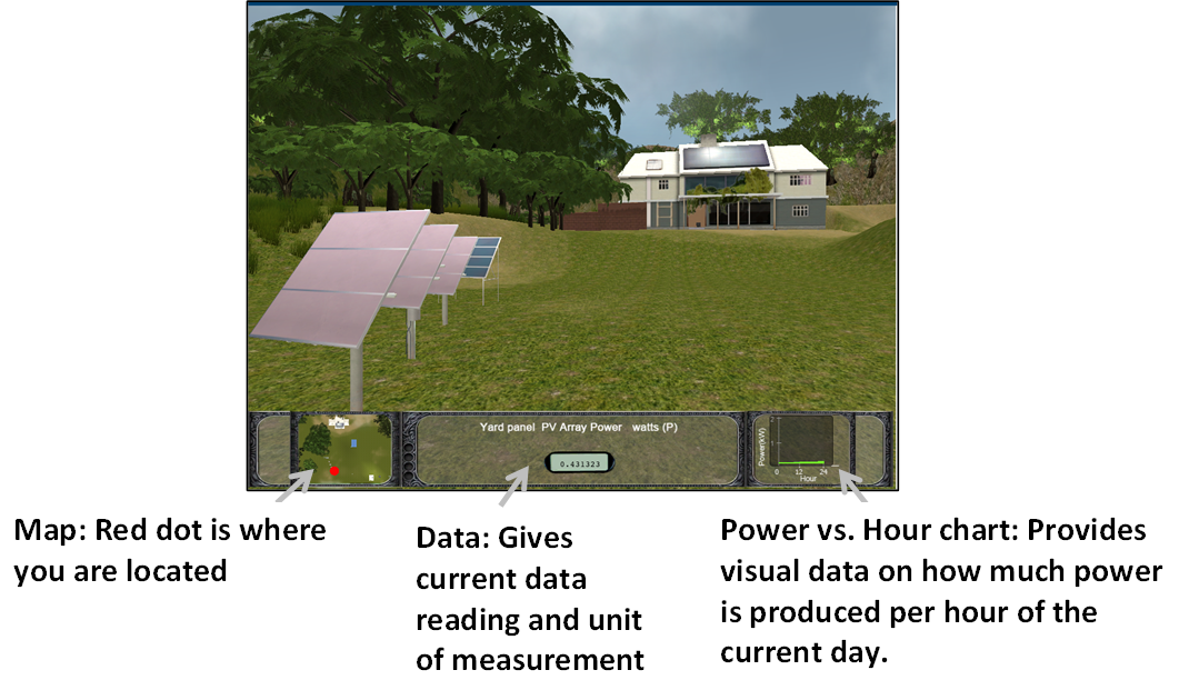 Virtual Solar House screen
